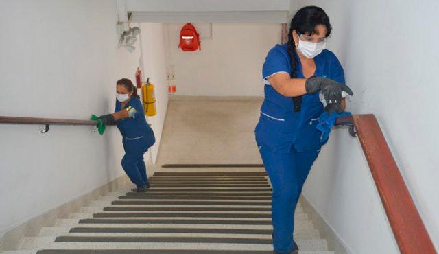 Limpieza de areas comunes en la empresa